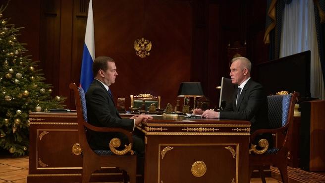Встреча с губернатором Ульяновской области Сергеем Морозовым