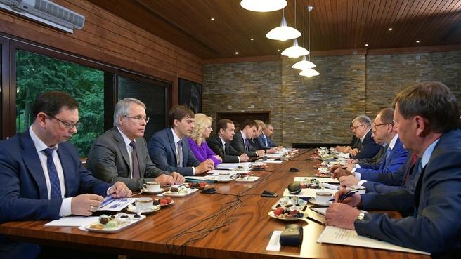 Встреча с ректорами высших учебных заведений
