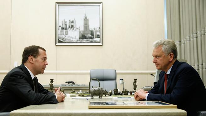 Встреча с Председателем Коллегии Евразийской экономической комиссии Виктором Христенко
