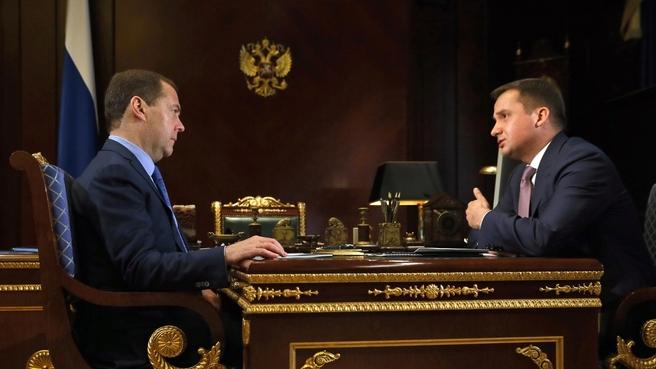 Встреча с временно исполняющим обязанности губернатора Ненецкого автономного округа Александром Цыбульским