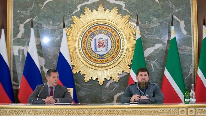 Рабочая поездка Юрия Трутнева в Чеченскую Республику. С главой Чеченской Республики Рамзаном Кадыровым