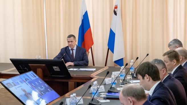 Юрий Трутнев на совещании по вопросу развития энергетики и газификации Камчатского края