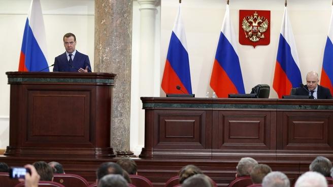 Выступление Дмитрия Медведева на расширенной коллегии Министерства финансов