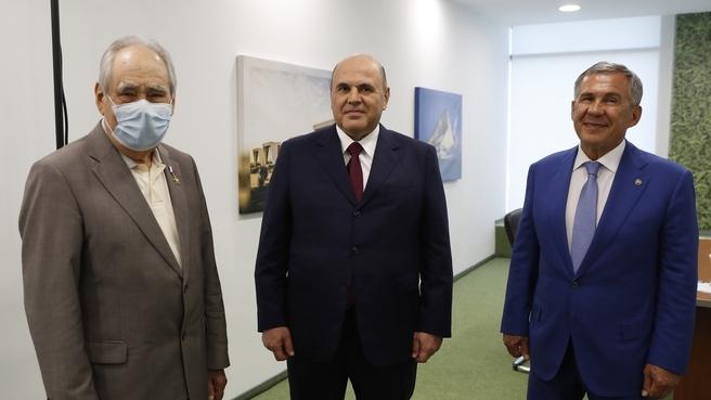 Встреча с Президентом Республики Татарстан Рустамом Миннихановым и Государственным советником Республики Татарстан Минтимером Шаймиевым