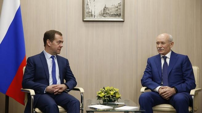 Встреча  с главой Республики Башкортостан Рустэмом Хамитовым