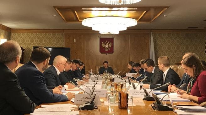Заседание российской части Межправительственной Российско-Монгольской комиссии по торгово-экономическому и научно-техническому сотрудничеству