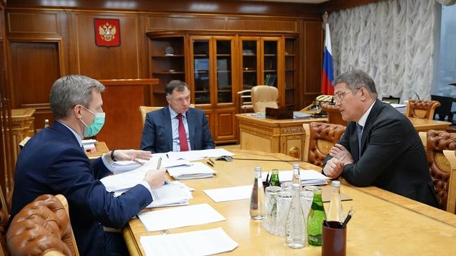 Марат Хуснуллин провел рабочую встречу с главой Республики Башкортостан Радием Хабировым