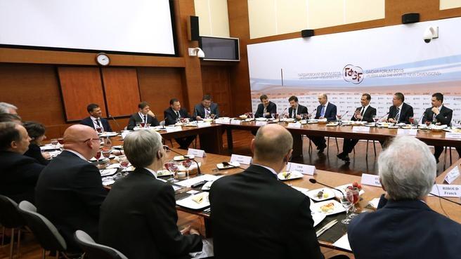 Встреча с представителями российских и зарубежных деловых кругов