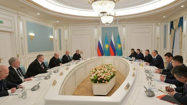 Встреча Михаила Мишустина с Президентом Республики Казахстан Касым-Жомартом Токаевым