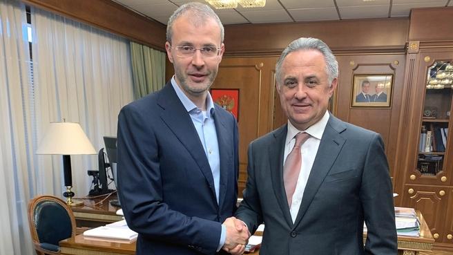 Встреча Виталия Мутко с губернатором Чукотского автономного округа Романом Копиным