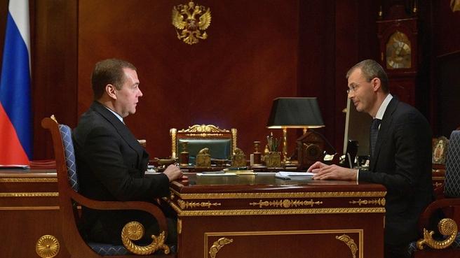 Встреча с губернатором Чукотского автономного округа Романом Копиным