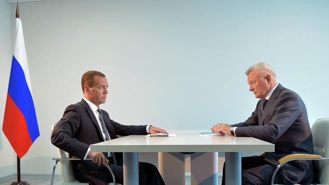 Встреча с губернатором Рязанской области Олегом Ковалёвым