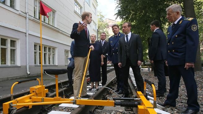 Посещение Московского колледжа железнодорожного транспорта