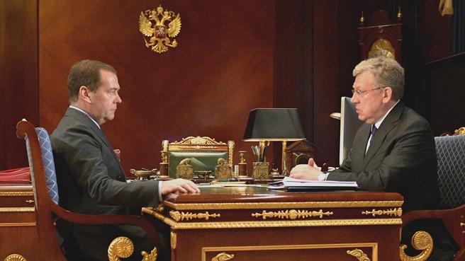 Встреча с председателем Счётной палаты Алексеем Кудриным