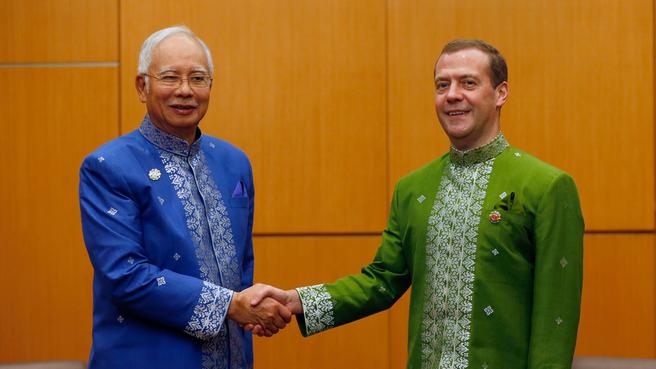 Dmitry Medvedev meets with Prime Minister of Malaysia Najib Razak