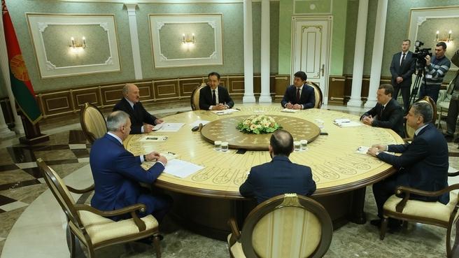 Встреча глав делегаций Евразийского межправительственного совета с Президентом Белоруссии Александром Лукашенко