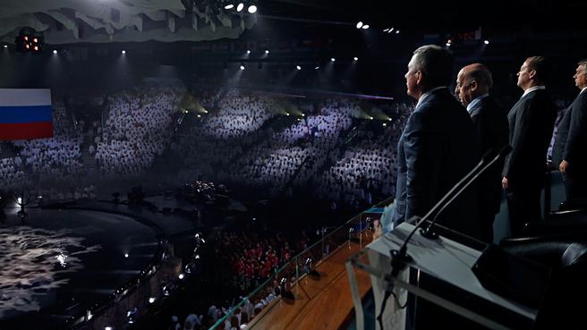 На церемонии закрытия XVI чемпионата мира по водным видам спорта в Казани