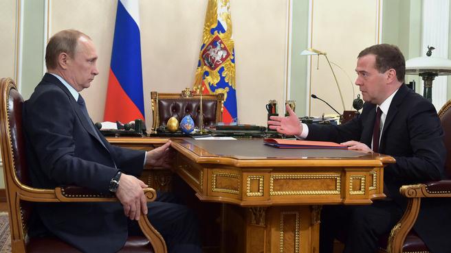 Встреча с Президентом России Владимиром Путиным