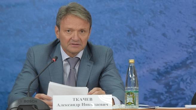 Доклад Александра Ткачева на селекторном совещании о ходе проведения в 2016 году сезонных полевых работ
