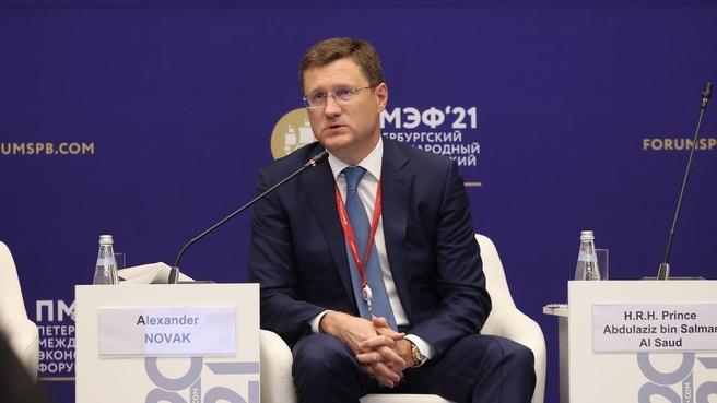 Александр Новак принял участие в мероприятиях первого дня Петербургского международного экономического форума