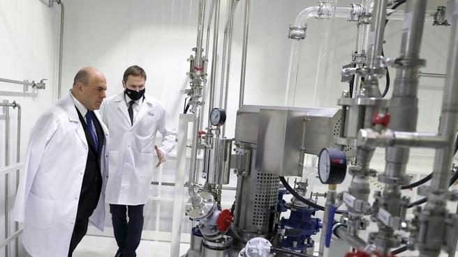Михаил Мишустин принял участие в запуске первой очереди нового завода АО «Активный компонент»