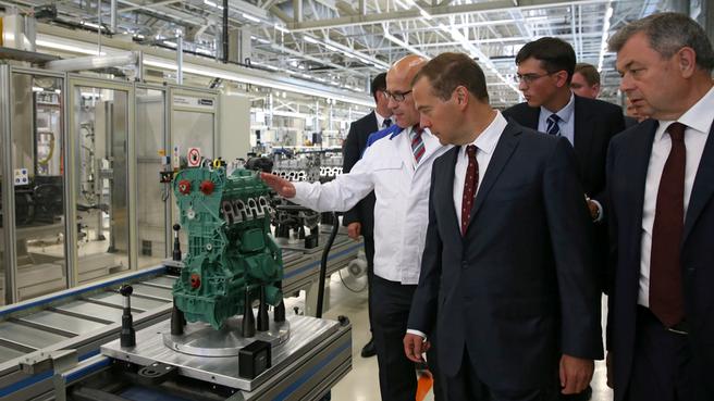 Осмотр завода по производству двигателей внутреннего сгорания ООО «Фольксваген Груп Рус»