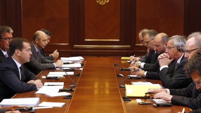 Дмитрий Медведев встретился с Премьер-министром Люксембурга Жан-Клодом Юнкером