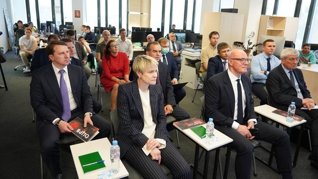 Дмитрий Чернышенко в Центре разработок и внедрения цифровых компетенций холдинга «РЖД» в Сочи