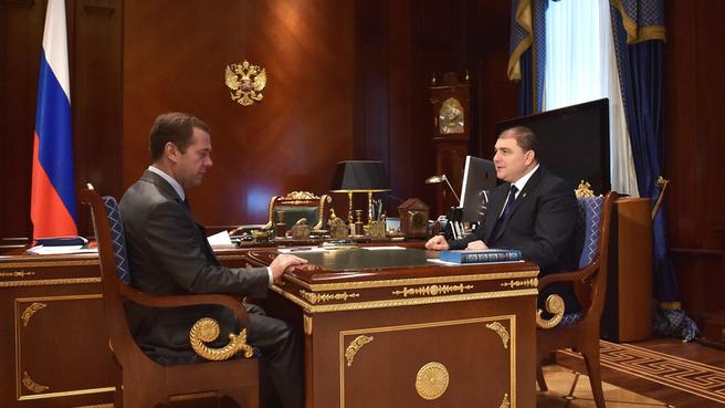 Встреча с губернатором Орловской области Вадимом Потомским