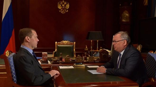 Встреча с президентом – председателем правления ПАО «Банк ВТБ» Андреем Костиным