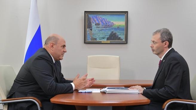 Беседа с губернатором Чукотского автономного округа Романом Копиным