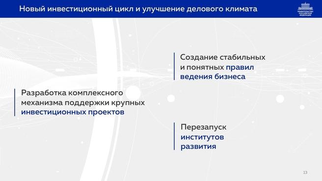 К отчёту о результатах деятельности Правительства России за 2020 год. Слайд 13