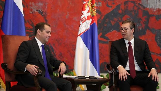 Встреча Дмитрия Медведева  с Президентом Сербии Александром Вучичем