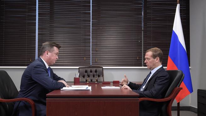 Встреча с губернатором Приморского края Владимиром Миклушевским