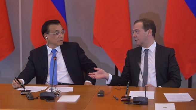 Пресс-конференция Дмитрия Медведева и Ли Кэцяна