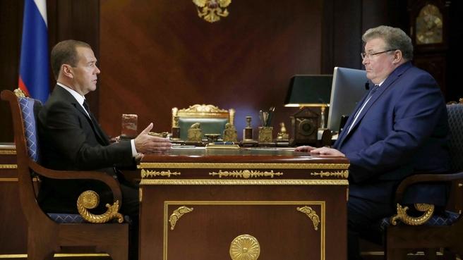 Встреча с временно исполняющим обязанности главы Республики Мордовия Владимиром Волковым