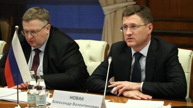 Состоялись переговоры Александра Новака и Алексея Оверчука с вице-премьером Республики Беларусь Юрием Назаровым