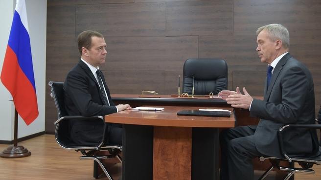 Встреча с губернатором Белгородской области Евгением Савченко