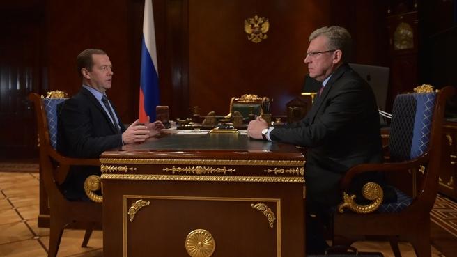 Встреча с заместителем председателя Экономического совета при Президенте России Алексеем Кудриным