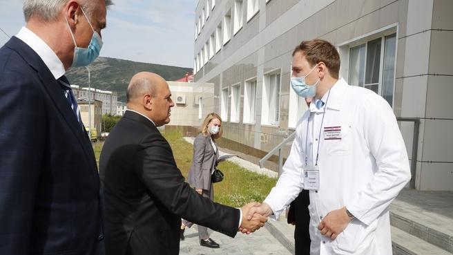 Посещение Магаданского областного онкологического диспансера