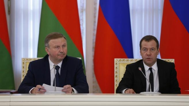 Выступление Дмитрия Медведева на заседании Совета Министров Союзного государства
