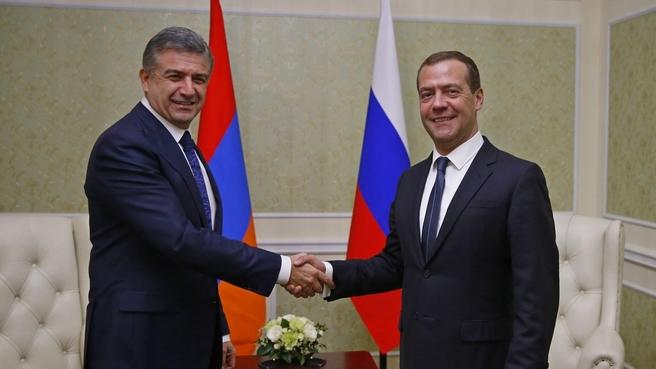 Встреча с Премьер-министром Республики Армения Кареном Карапетяном