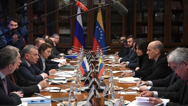 Заседание Межправительственной Российско-Венесуэльской комиссии