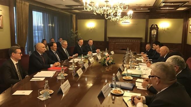Встреча Алексея Гордеева с заместителем Премьер-министра – Министром сельского хозяйства Республики Казахстан Умирзаком Шукеевым