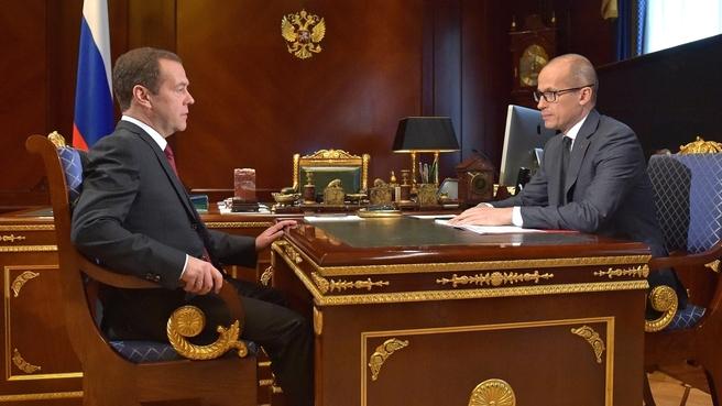 Встреча с временно исполняющим обязанности главы Удмуртской Республики Александром Бречаловым