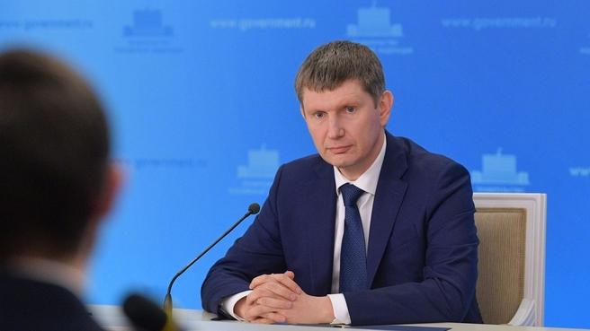 Брифинг Министра экономического развития Максима Решетникова