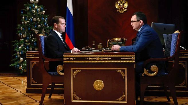 Рабочая встреча с Министром сельского хозяйства Николаем Фёдоровым
