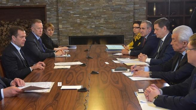 Встреча с руководством фракции партии «Единая Россия»