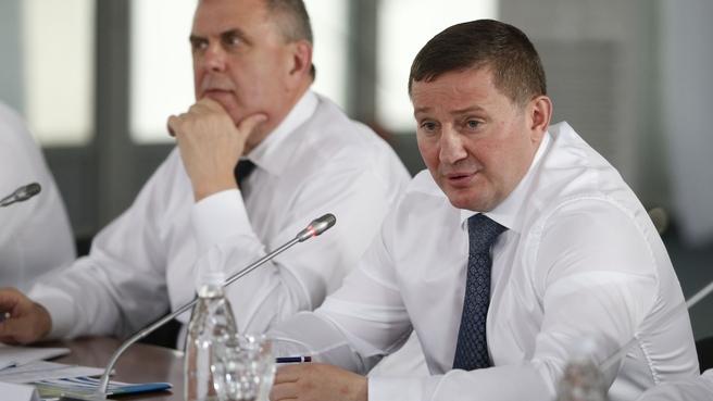 Сообщение губернатора Волгоградской области Андрея Бочарова на совещании