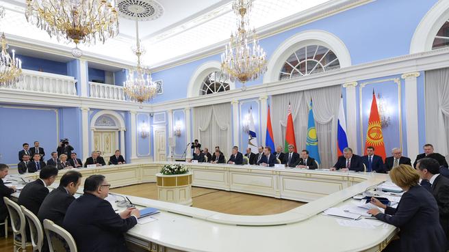 Первое заседание Евразийского межправительственного совета